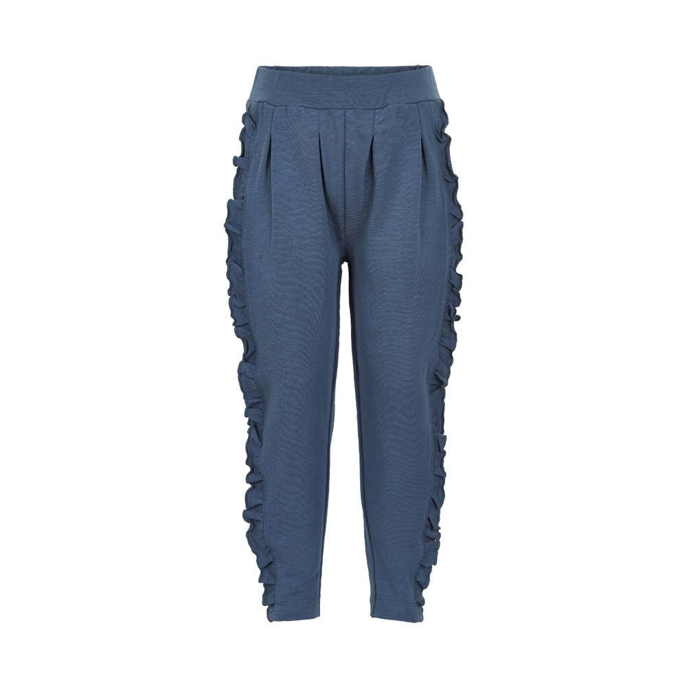 Sweat pants w. frill Midnight Blue