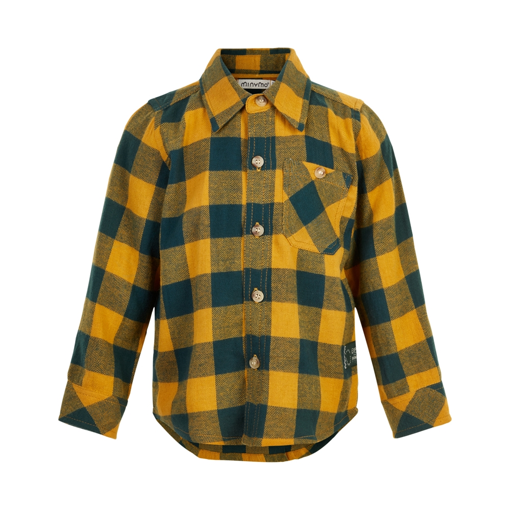 Shirt ls check amber gold