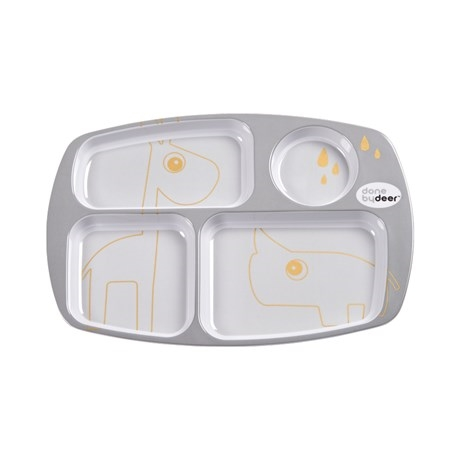 Compartment plate, Contour, grey/gold
