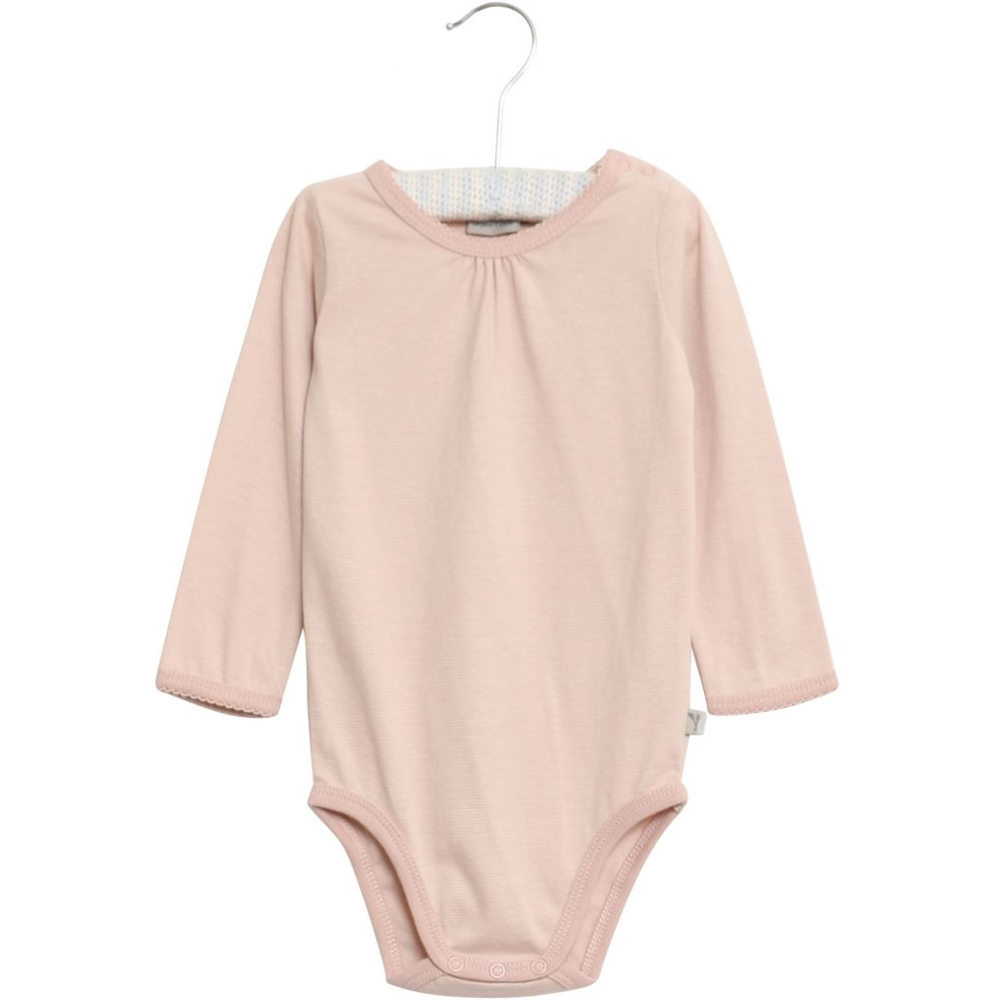 Body Frills LS dark rose