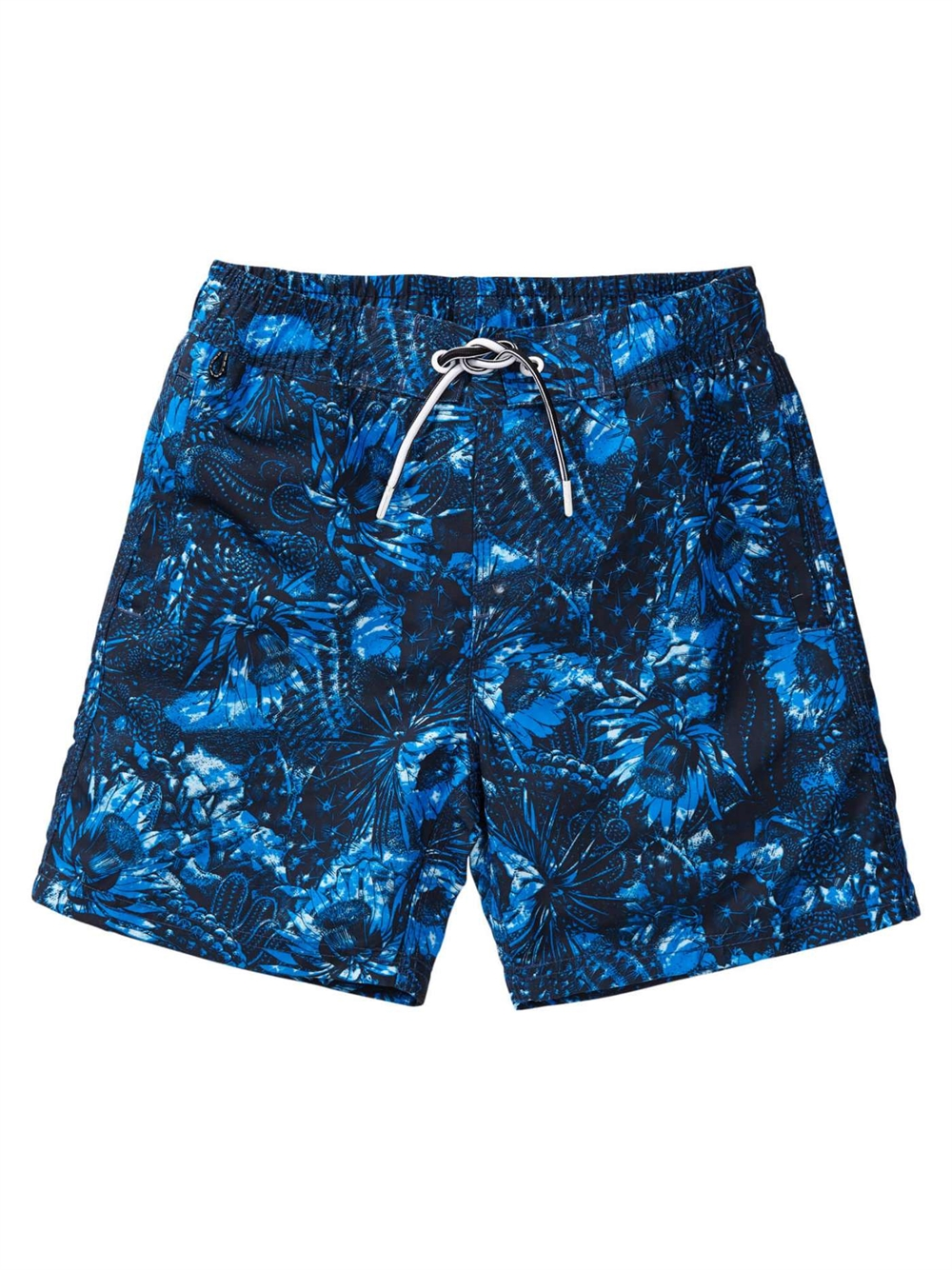 Swimming trunks with print Electric Blue
