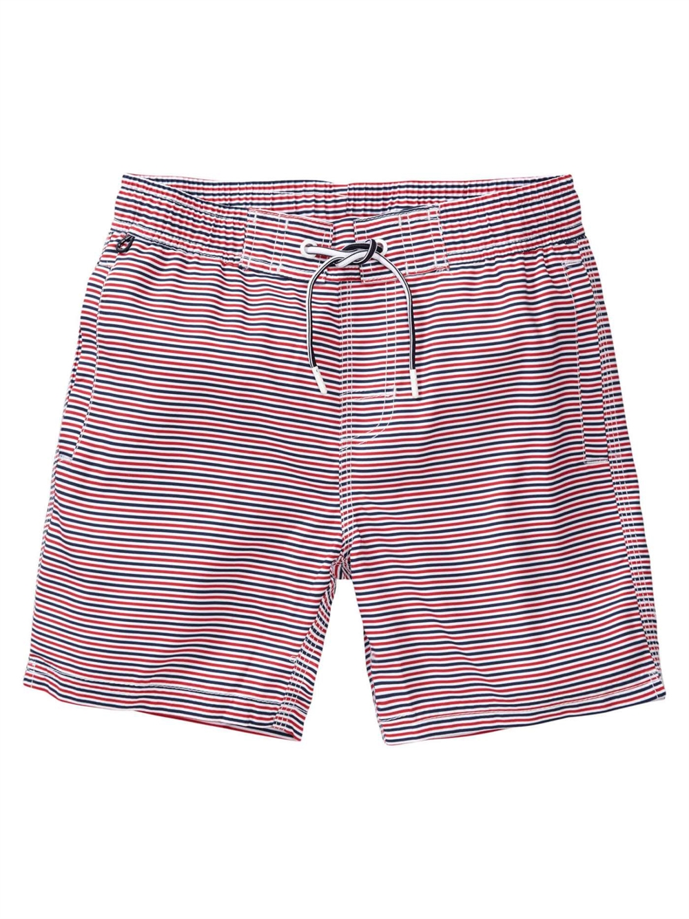 Swimming trunks with stripes Fire Red