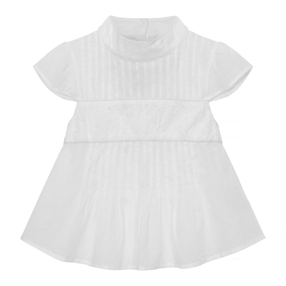Lucy top white cotton voile