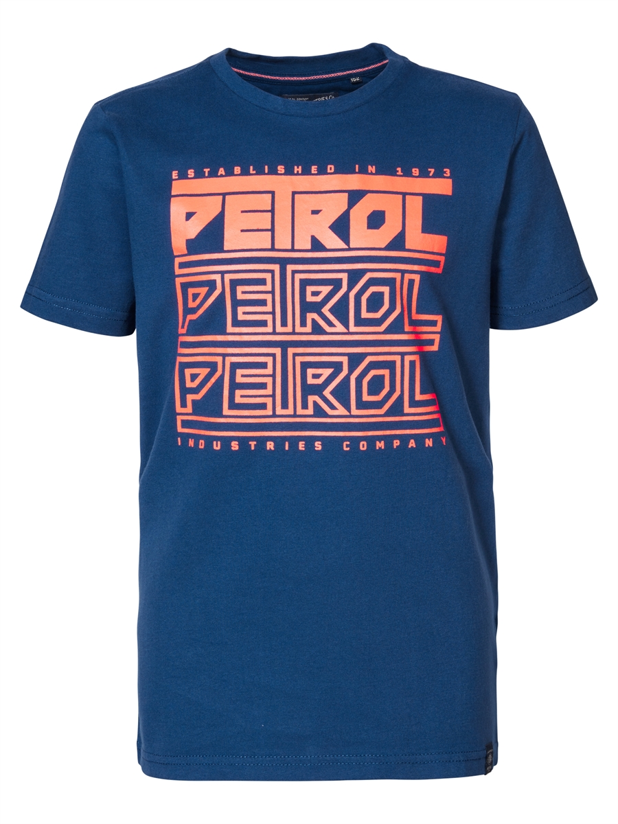Petrol Industries T-shirt - bas - fiery coral