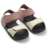 Blumer sandals Dark rose/black mix
