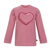 T-shirt LS w heart Mesa Rose