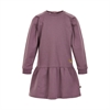 Dress LS sweat w lurex Black Plum