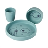 Silicone dinner set Sea friends blue