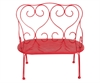 Metal red bench, medium